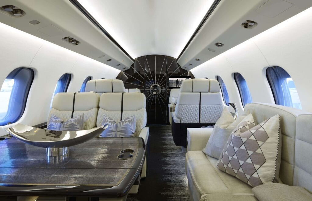 Custom private aircraft interior (Comfort in the clouds)