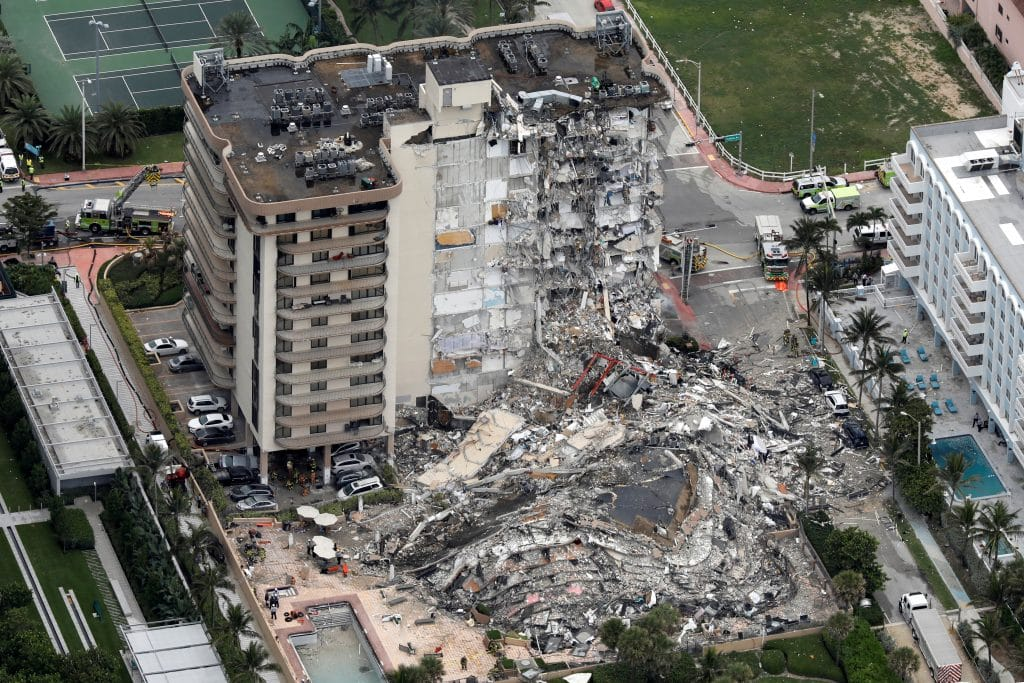 Surfside building collapsed photo. The need for NDT.