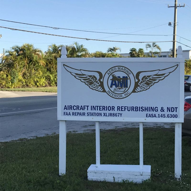 Aircraft interior repair services Miami, FL